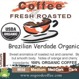 Brazilian Verdade Organic Coffee