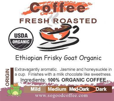 Ethiopion Frisky Goat Organic Coffee