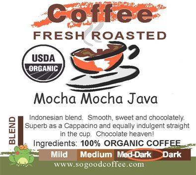 Mocha Mocha Java Organic Coffee