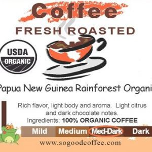 Papua New Guinea Rainforest Organic Coffee
