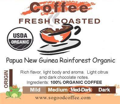 Papua New Guinea Rainforest Organic Coffee