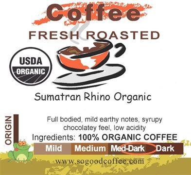 Sumatran Rhino Organic Coffee