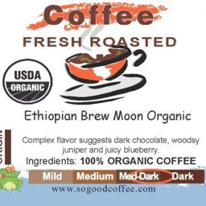 Ethiopian Brew Moon Organic Coffee
