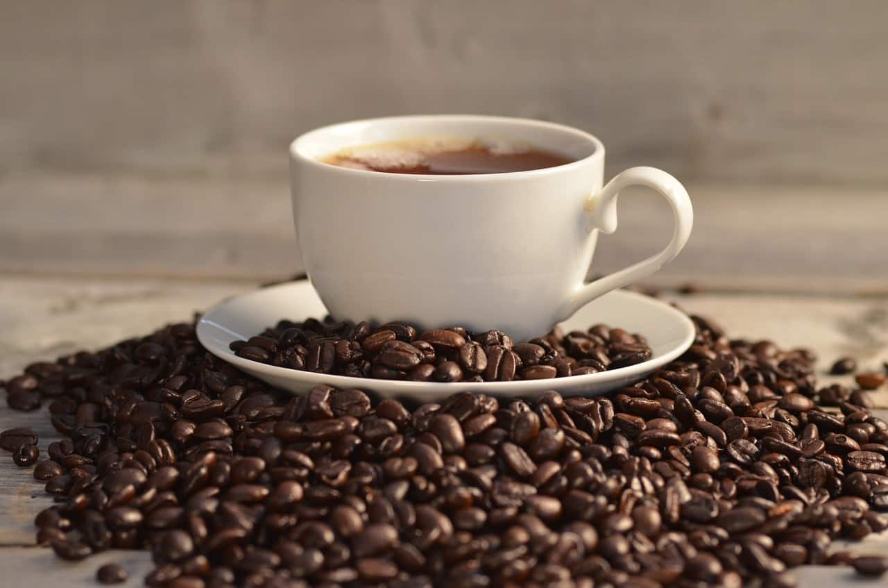 Coffee Cup With Organic Beans