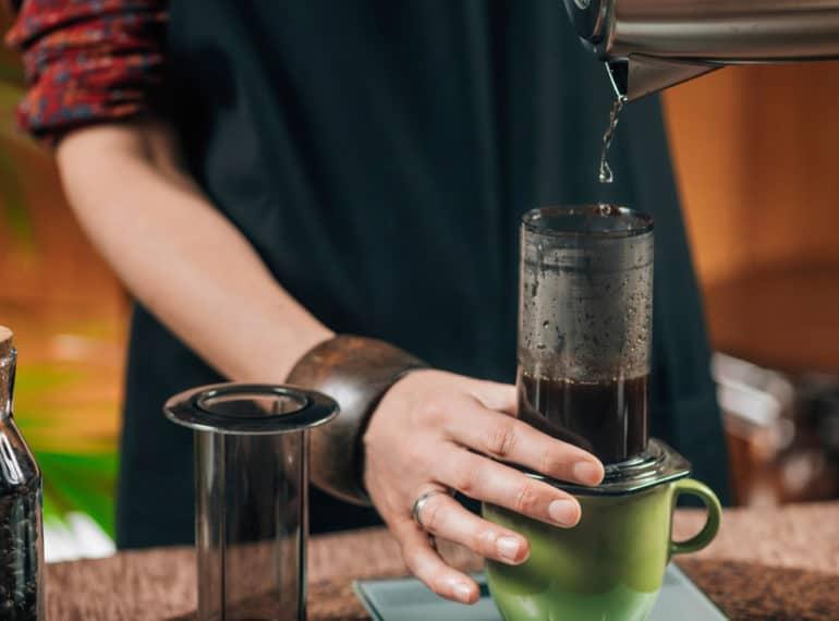 Barista Brewing Air Press Coffee